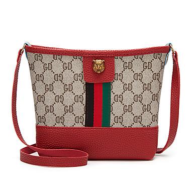 cheap Crossbody Bags-Women's Zipper PU(Polyurethane) / PU Crossbody Bag Black / Blushing Pink / Red / Fall & Winter