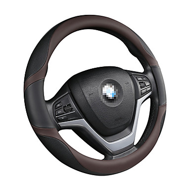 cheap Steering Wheel Covers-Steering Wheel Covers Genuine Leather / Leather / leatherette 38cm Black / Red / Black / White / Black / Blue For universal General Motors All years