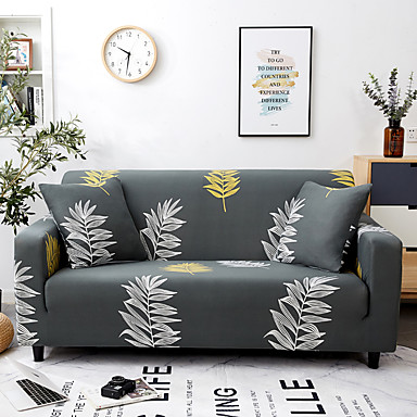 Peachy 33 99 Leaves Printed Sofa Slipcover Couch Protector Spandex Stretch Sectional Loveseat 3 Seater T Cushion L Shaped Armchair Sofa Cover Unemploymentrelief Wooden Chair Designs For Living Room Unemploymentrelieforg