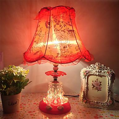מודרני עכשווי / מסורתי / קלסי מנורות סביבה / דקורטיבי / מקסים מנורת שולחן / מנורת שולחן עבודה / Rekisterikilven valot עבור משרד / חדר בנות זכוכית 110-120V / 220-240V אודם / ורוד מסמיק / סגול