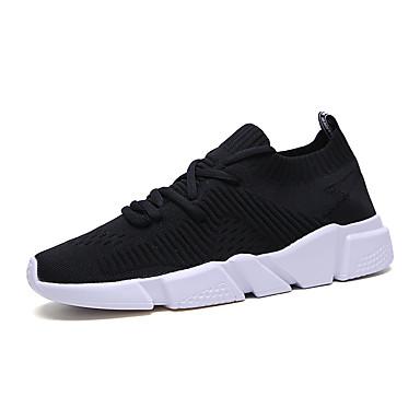 Ανδρικά Φως πέλματα Ελαστικό ύφασμα Ανοιξη καλοκαίρι Αθλητικό Αθλητικά Παπούτσια Μαύρο / Μαύρο και Άσπρο / Λευκό