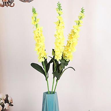 פרחים מלאכותיים 1 ענף קלאסי מסוגנן סגול פרחים לשולחן