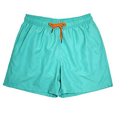 בגדי ריקוד גברים מכנסי שורט בגדי ים מכנסי שחייה מכנסי גלישה נושם ייבוש מהיר שרוולים קצרים שרוך - שחייה צלילה אחיד סתיו אביב קיץ / מיקרו-אלסטי