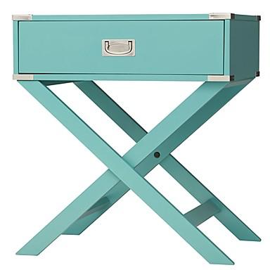 ירוק טורקיז ירוק 1-מגירה מודרני שולחן צד השולחן