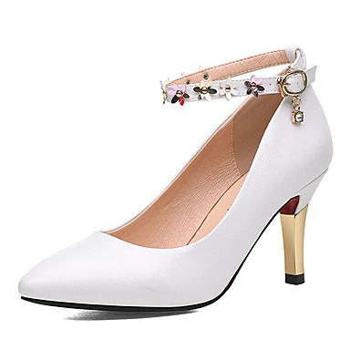 preiswerte Damenschuhe-Damen High Heels Sexy Schuhe Stöckelabsatz Kunststoff Süß / Minimalismus Frühling & Herbst / Sommer Weiß / Leicht Rosa / Alltag / Pumps