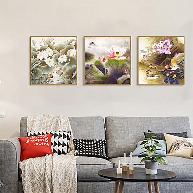דפוס אומנות ממוסגרת סט ממוסגר - חיות פרחוני / בוטני פוליסטירן תצלום וול ארט