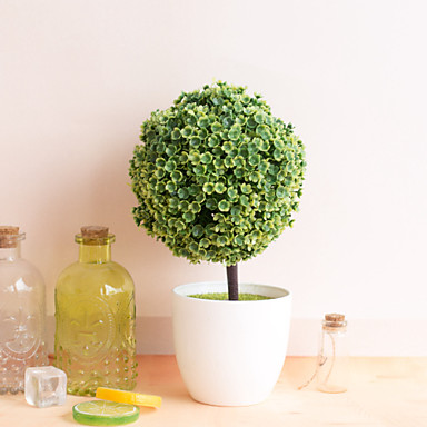1pc כדור שלג כדור שלג סימולציה צמח דשא כדור בונסאי עץ קטן קישוט פרחים קישוט כדור מיני יצירתי