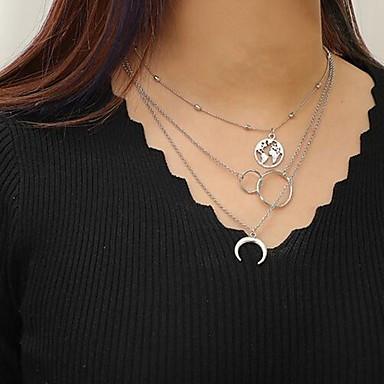 povoljno Modne ogrlice-Žene slojeviti Ogrlice Jednostavan folk stil Krom Pink 37-47 cm Ogrlice Jewelry 1pc Za Dnevno