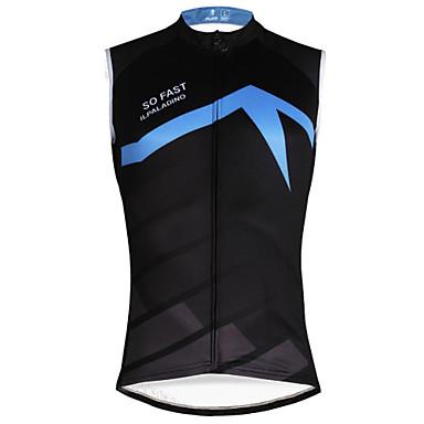 ILPALADINO Ανδρικά Αμάνικο Φανέλα ποδηλασίας Μαύρο / Μπλε Ποδήλατο Γιλέκο Αθλητική μπλούζα Αμάνικη Μπλούζα Ποδηλασία Βουνού Ποδηλασία Δρόμου Γρήγορο Στέγνωμα Αθλητισμός / Ελαστικό