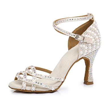preiswerte Meist Verkaufte-Damen Tanzschuhe Kunstleder Schuhe für den lateinamerikanischen Tanz Absätze Keilabsatz Maßfertigung Hautfarben / Leistung / Leder / Praxis