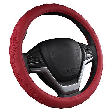 billige Interiørtilbehør til bilen-tredimensjonalt skinn anti-skid konkave og konvekse bølge vertikalt bil ratt deksel // svart / lilla / rød / beige / grå / ratt dekker fire sesonger