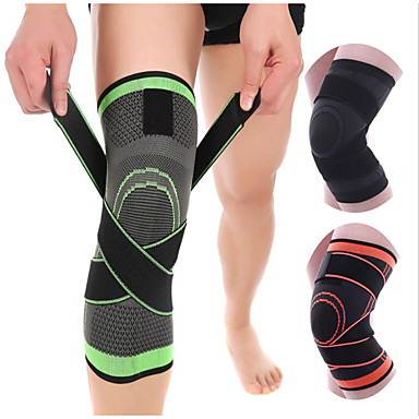 cheap Running, Jogging & Walking-Knee Brace Knee Sleeve 3D Weaving for Running Basketball Fitness Antiskid Moisture Wicking Compression Adjustable Men's Women's Silica Gel Nylon Lycra Spandex 1 pc Sports Practice Gym Black Orange