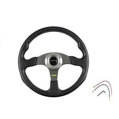 cheap Steering Wheel Covers-350mm 14 Inch Universal Sport Racing Car PVC Steering Wheel Modified Car Steering Wheel