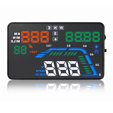 billige Bil Elektronikk-5.6 tommers LED Hodet opp skjerm LED-indikator til Bil Mål kjørehastighet