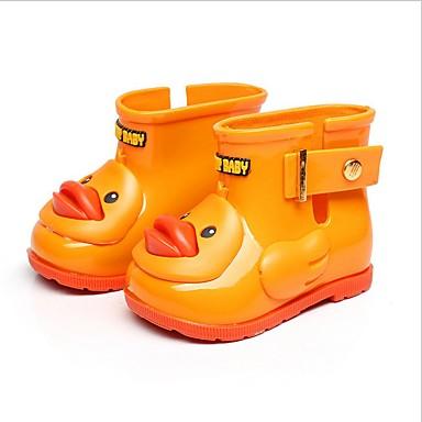 בנים / בנות מגפי גשם סינטטיים מגפיים פעוט (9m-4ys) / ילדים קטנים (4-7) שחור / צהוב / ורוד בהיר אביב / קיץ