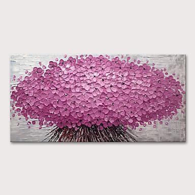 povoljno Ulja na platnu-Hang oslikana uljanim bojama Ručno oslikana - Sažetak Cvjetni / Botanički Moderna Uključi Unutarnji okvir