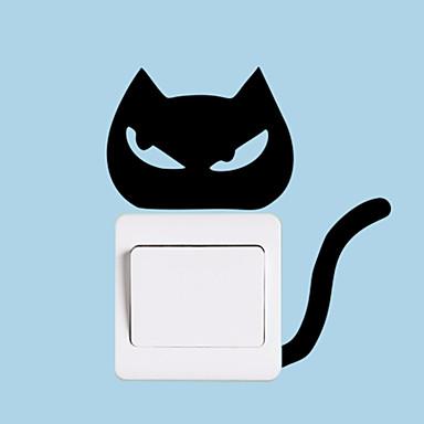 מותחן חמוד חתול האור לעבור מדבקה מדבקות קיר - מילים& ציטוטים ampamp קיר מדבקות תווים חדר לימוד / משרד / חדר אוכל / מטבח