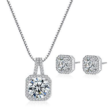 Žene Kubični Zirconia Svadbeni nakit Setovi slatko Slatka Style Naušnice Jewelry Pink Za Vjenčanje Party 1set
