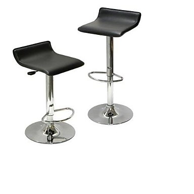 Incredible 124 94 Set Of 2 Modern Air Lift Adjustable Bar Stools With Black Seat Machost Co Dining Chair Design Ideas Machostcouk