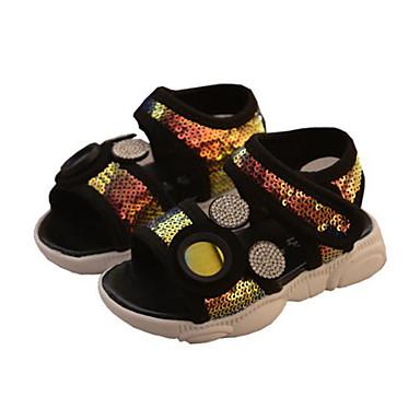 levne Dětské botičky-Dívčí Pohodlné mikrovlákno Sandály Děti / Toddler Flitry Bílá / Duhová / Modrá Léto / Guma