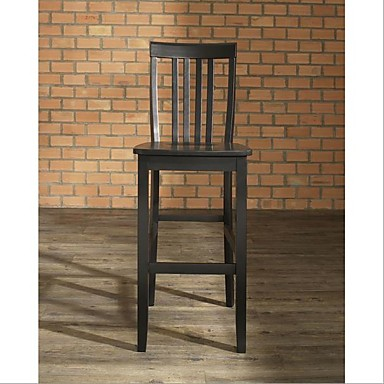 Awesome 322 34 Set Of 2 30 Inch Solid Hardwood Bar Stools In Black Finish Pabps2019 Chair Design Images Pabps2019Com