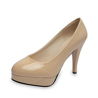 voordelige Dameshakken-Dames Hoge hakken Comfort schoenen Naaldhak PU Zomer Zwart / Beige / Rood / Feesten & Uitgaan