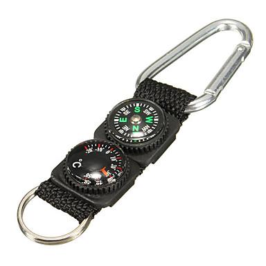 voordelige Auto-interieur accessoires-3 in 1 survival sleutelhanger ring camping gesp kompas thermometer multifunctioneel