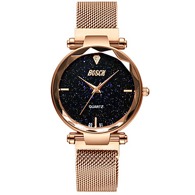 cheap Watches-Women's Mechanical Watch Quartz Water Resistant / Waterproof Analog Fashion - Black Rose Gold Purple