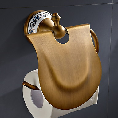 מחזיק נייר טואלט עיצוב חדש / מגניב עכשווי פליז 1pc מותקן על הקיר