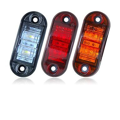 billige Motorsykkel & ATV tilbehør-sencart 2pcs 12v 24v gul gul hvit rød dsside lys ledet markør tilhenger lastebil sving lampe