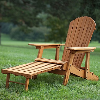 Fabulous 238 34 Outdoor Adirondack Chair Recliner With Slide Out Ottoman In Kiln Dried Fir Wood Gmtry Best Dining Table And Chair Ideas Images Gmtryco