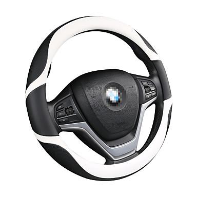 billige Interiørtilbehør til bilen-strukturert bil rattdeksel karbonfiber fasjonable fire sesonger gm bil / svart / lilla / rød / beige / grå / rattdeksler / ekte lær 38cm