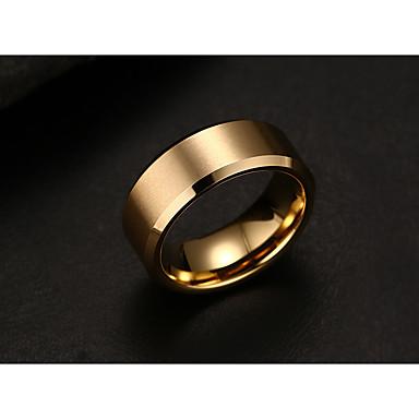 voordelige Heren Ring-Heren Bandring Goud Zwart Zilver Titanium Staal Eenvoudige Stijl Modieus bouwkunde Feest Dagelijks Sieraden