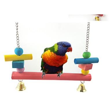 Bärbar - Plast/Trä - Fågelleksaker - till För Fåglar