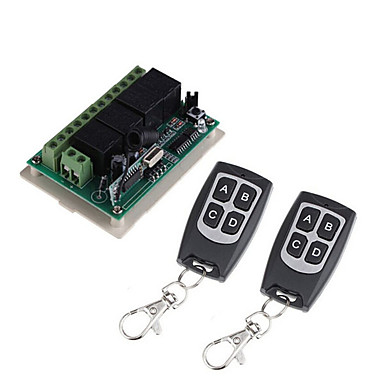 cheap Smart Switch-DC12V 4CH wireless remote control switch /Learning code 4ch relay receiver /power ON/OFF  waterproof remote /Momentary /Toggle/Latched can change /433mhz