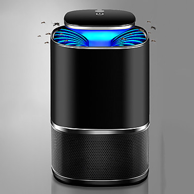 cheap Flashlights & Camping Lanterns-Intelligent Light Mosquito Repellent Lamps Mosquito-Killer Lamps LED Black Light with Battery and USB Cable 360 ° Mosquito Trap Portable Intelligent Light Sense Vortex Airflow Camping Caving Fishing