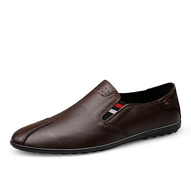 Ανδρικά Δερμάτινα παπούτσια Συνθετικά Άνοιξη / Φθινόπωρο Μοκασίνια & Ευκολόφορετα Αναπνέει Μαύρο / Καφέ