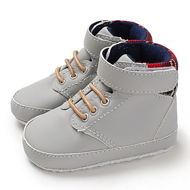 בנים צעדים ראשונים PU מגפיים תינוקות (0-9m) / פעוט (9m-4ys) כחול כהה / חום / אפור בהיר סתיו / חורף