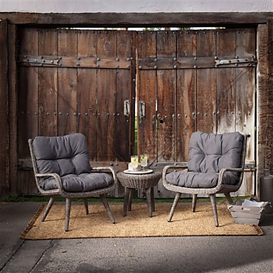 990 14 Weather Resistant Wicker Resin Patio Furniture Set With 2 Chairs Cushions And Side Table