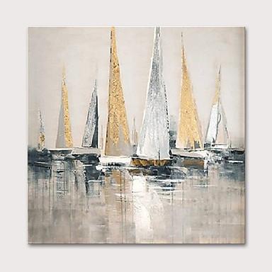 ציור שמן צבוע-Hang מצויר ביד - L ו-scape נוף אבסטרקט מודרני ללא מסגרת פנימית