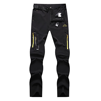cheap Camping, Hiking & Backpacking-Men's Hiking Pants Convertible Pants / Zip Off Pants Summer Outdoor Waterproof Breathable Quick Dry Stretchy Elastane Pants / Trousers Bottoms Dark Grey Black Khaki Hunting Fishing Climbing M L XL