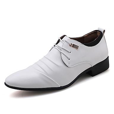 Homens Sapatos formais Couro Ecológico Primavera Verão / Outono & inverno Casual / Formais Oxfords Preto / Branco / Festas & Noite
