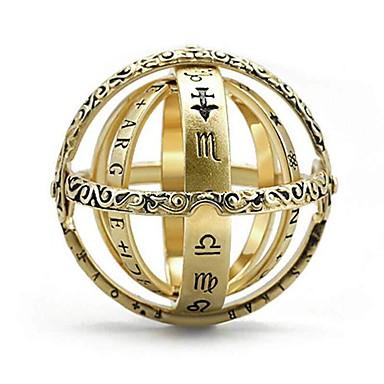 billige Motering-Dame Statement Ring Ring 1pc Gul Kobber Gullbelagt Geometrisk Form Luksus Vintage Fest Gave Smykker Kul