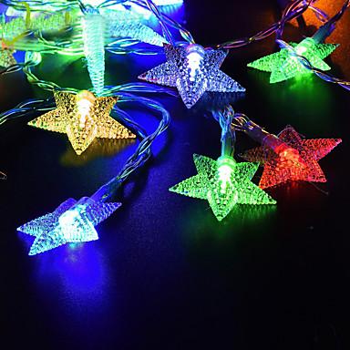 לנד 5 מ '50 מורות מחרוזת אורות חם לבן / rgb / לבן השמש מופעל חג המולד חג החתונה קישוט צד התאורה
