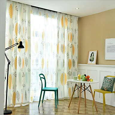 [$66.48] Contemporary Privacy Two Panels Curtain Living Room Curtains