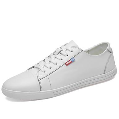 Ανδρικά Δερμάτινα παπούτσια Συνθετικά Άνοιξη / Φθινόπωρο Αθλητικά Παπούτσια Αναπνέει Μαύρο / Λευκό