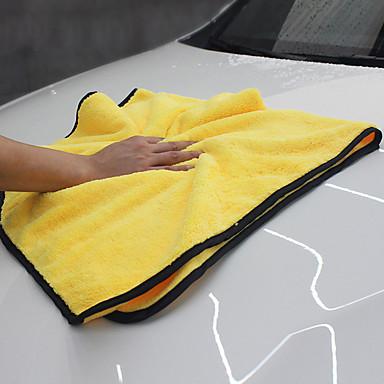 povoljno Oprema za čišćenje i uređivanje-92 * 56cm mekog mikrovlakana vlakna poliranje runo pranje ručnika upijajući kemijsko čišćenje kit postavljen za automobil