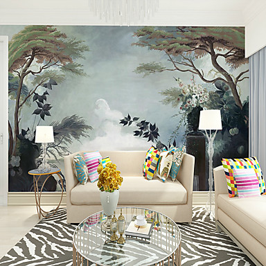 cheap Wallpaper-Art Deco / Pattern / Landscape Home Decoration Classic / Modern Wall Covering, Canvas Material Adhesive required Wallpaper / Mural / Wall Cloth, Room Wallcovering