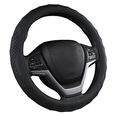 billige Interiørtilbehør til bilen-bil rattdeksel skinn hånd syretning dekke fire årstider håndtak dekke rattdeksel / svart / lilla / rød / beige / grå / rattdeksler