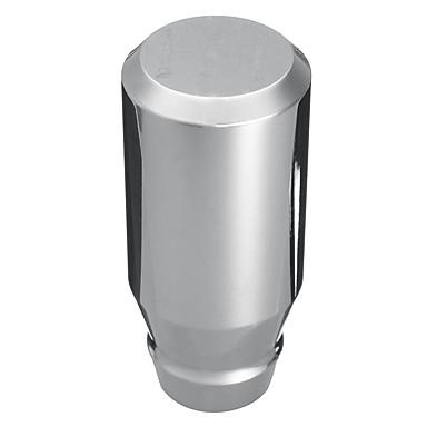 billige Interiørtilbehør til bilen-universalbil auto 5-trinns manuell girskift aluminium skiftknott krom polert